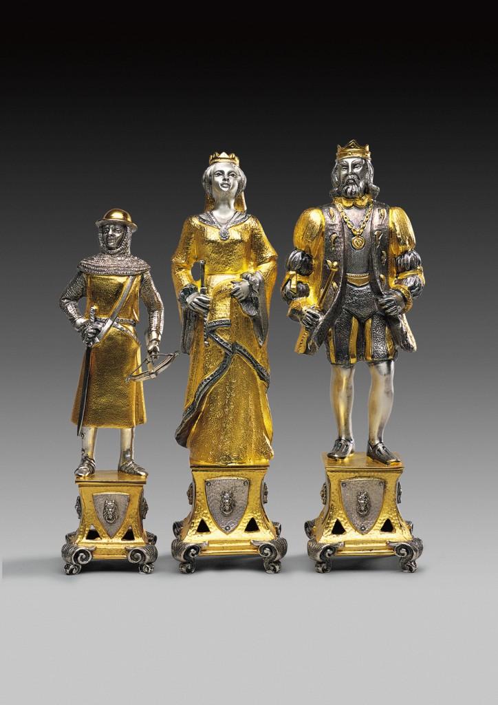 set scacchi medioevale medieval chess set italfama