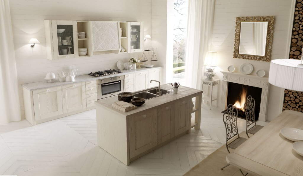 Cucine toscana tuscany handicraft experience - Porte decapate bianche ...